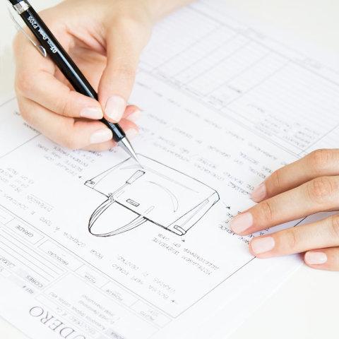 desenho técnico de bolsa escudero