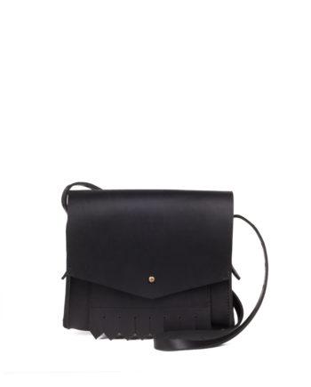 bolsa feminina loa de couro preto da escudero