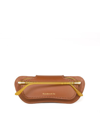 Porta óculos Briller Case Caramel Escudero
