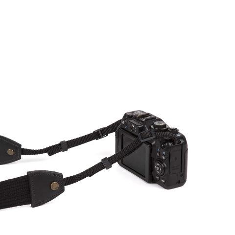 alça para câmera de lona preta da escudero