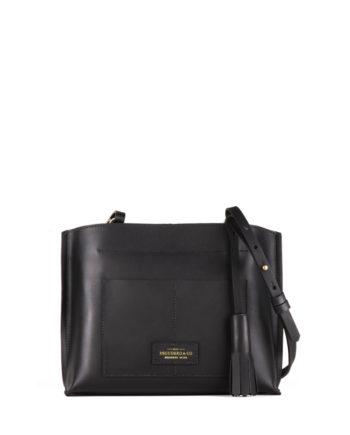 bolsa feminina mini lova de couro preta da escudero