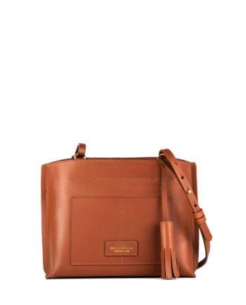 bolsa feminina mini lova de couro caramelo da escudero