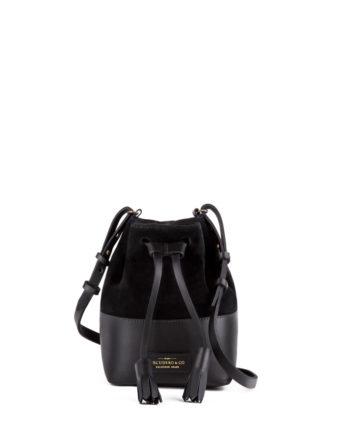 Bolsa Mini Meja Saco Escudero couro preto