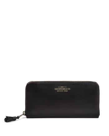 carteira feminina saffi de couro preta da escudero