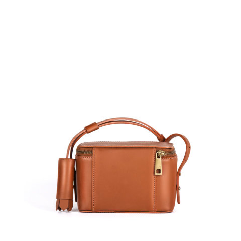 bolsa feminina freja de couro caramelo da escudero