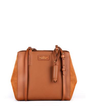 bolsa feminina kler de couro caramelo da escudero