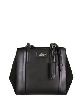 bolsa feminina kler de couro preta da escudero