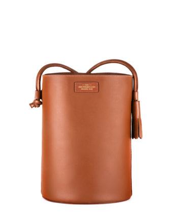 bolsa feminina torvi de couro caramelo da escudero