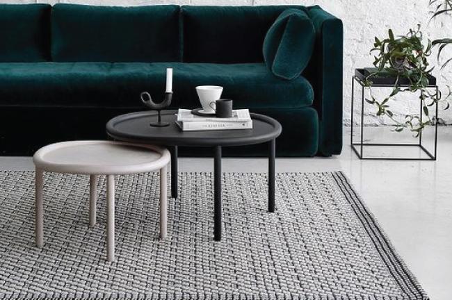 sala de estar com estilo escandinavo