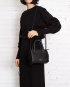bolsa feminina mia de couro preta da escudero