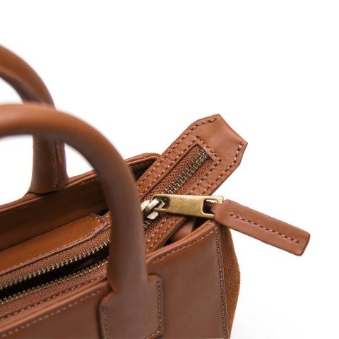 bolsa feminina mia de couro caramelo da escudero