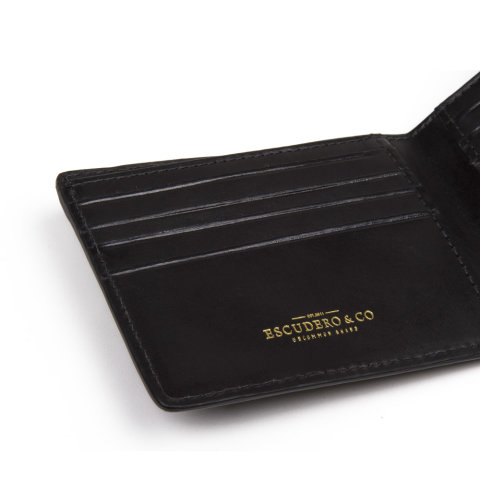 carteira masculina olaff preta de couro da escudero