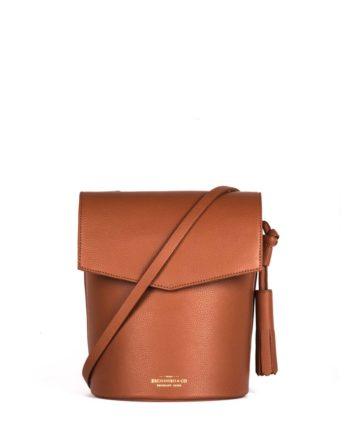 bolsa feminina zoe de couro caramelo da escudero