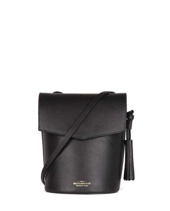 bolsa feminina zoe de couro preta da escudero