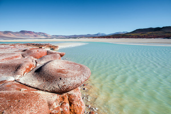 lago no deserto do atacama