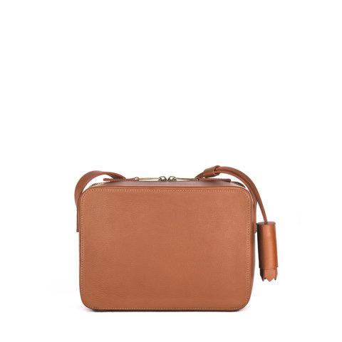 bolsa feminina helle de couro caramelo da escudero