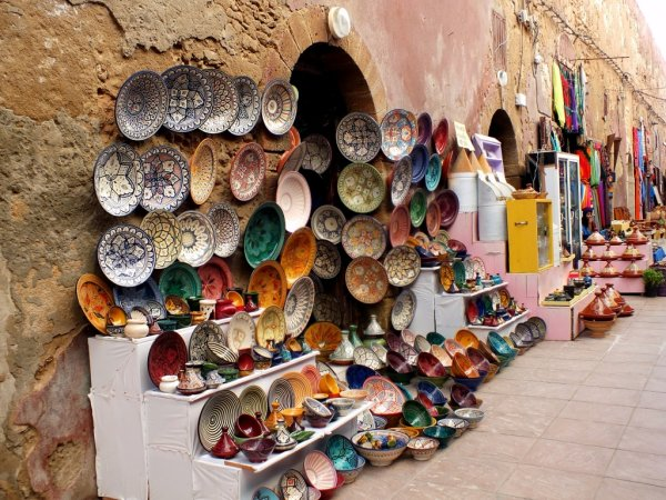 lojas de artesanatos no marrocos