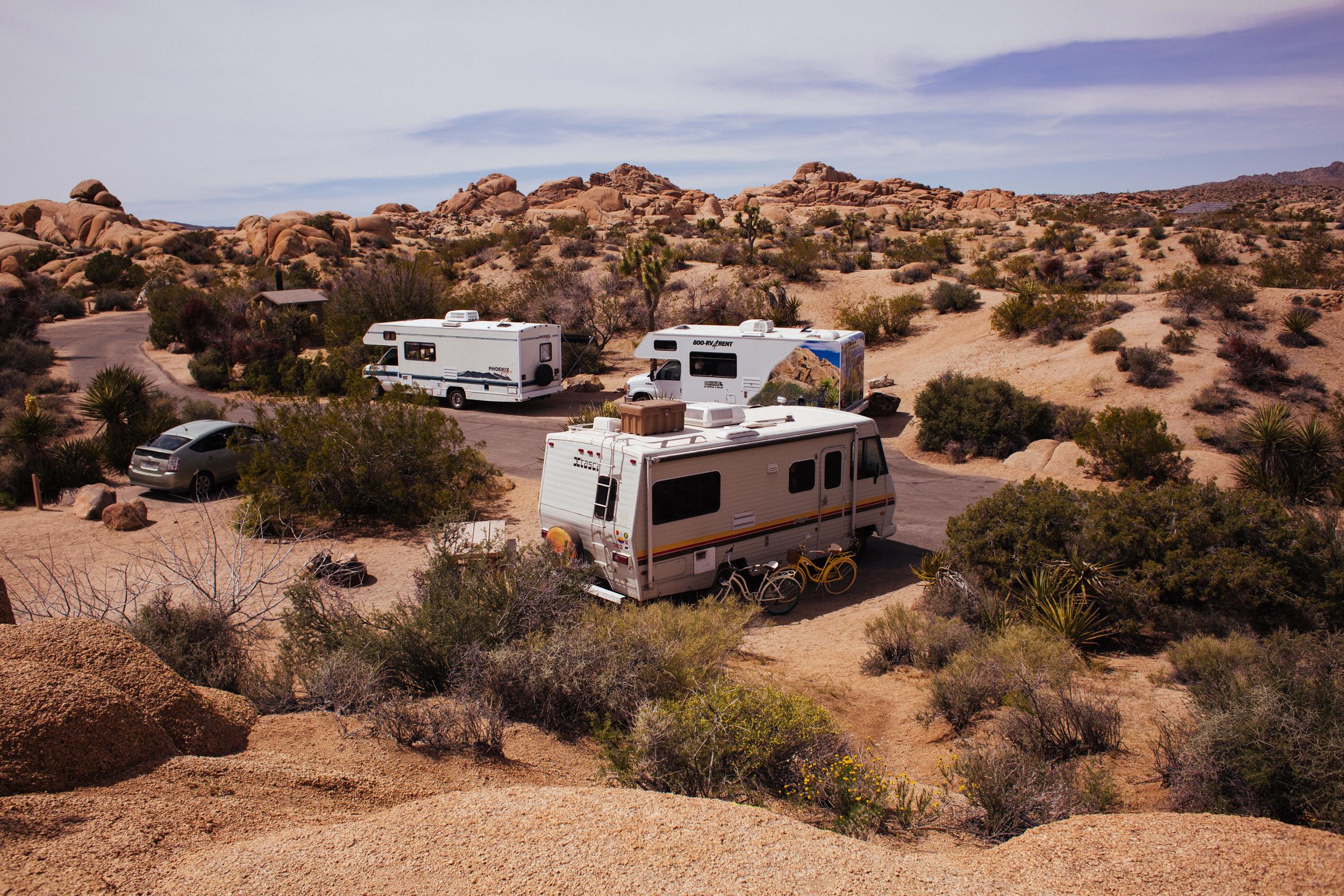 motorhomes no deserto da california
