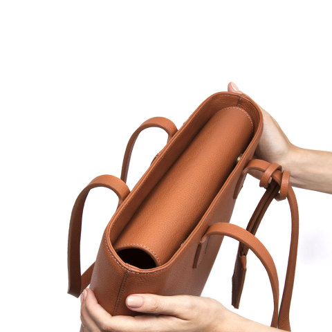 bolsa noah de couro caramelo da escudero