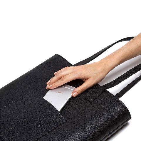 bolsa feminina noah de couro preta escudero