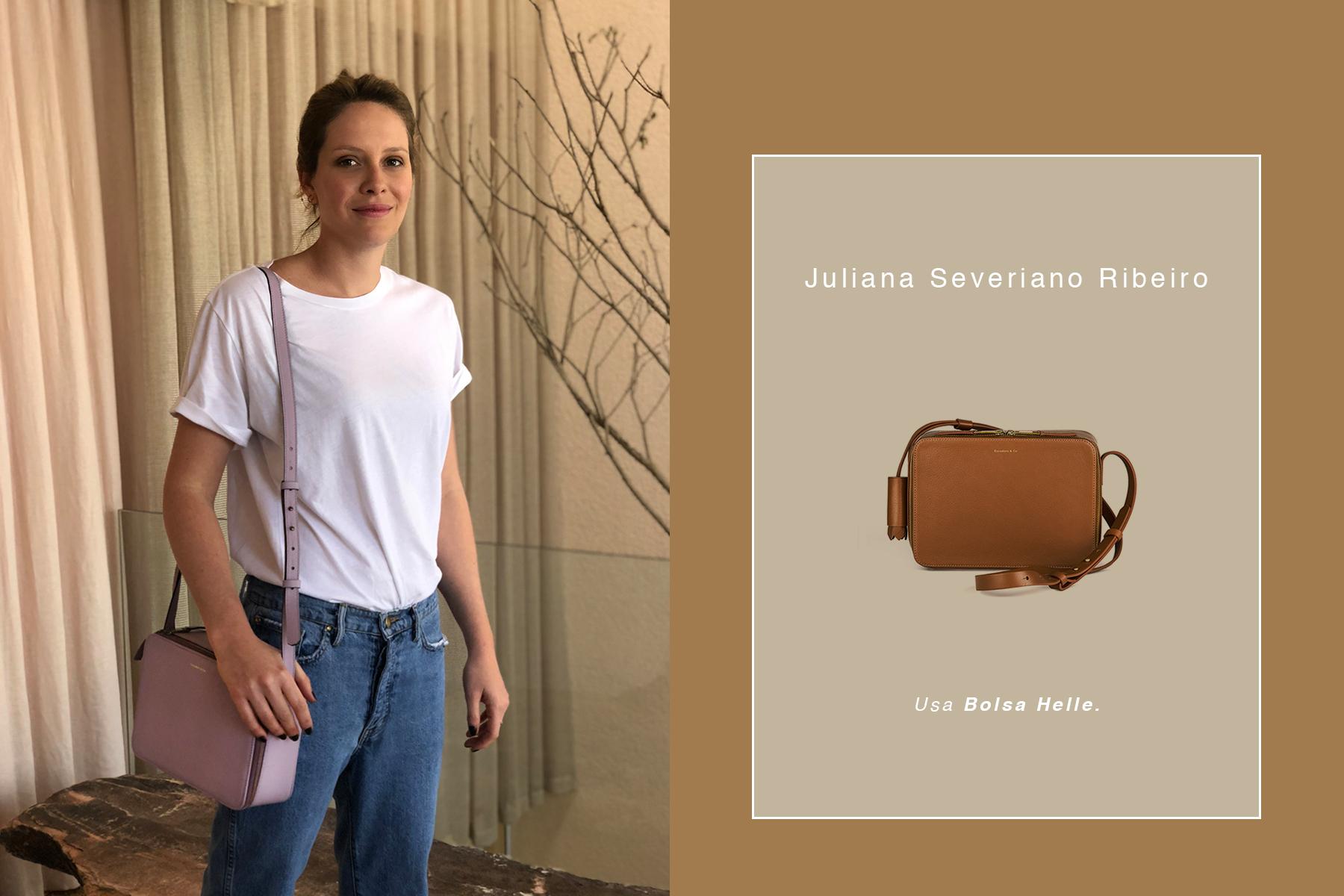 2fcd31a53 Juliana Severiano Ribeiro, mulher importante no meio da moda, usa nosso  modelo ícone, a Bolsa Helle.